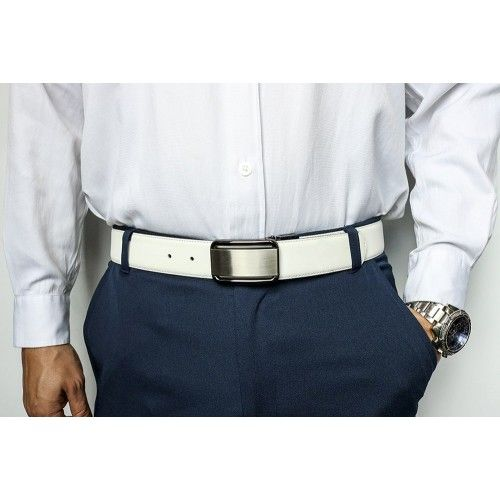 Withe leather belt